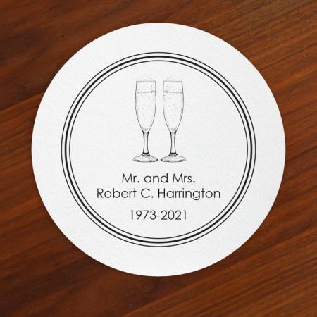 Champagne Toast Coasters