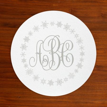 Monogram Snowflake Coasters