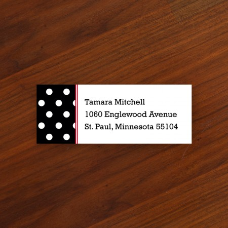 Polka Dot Address Label