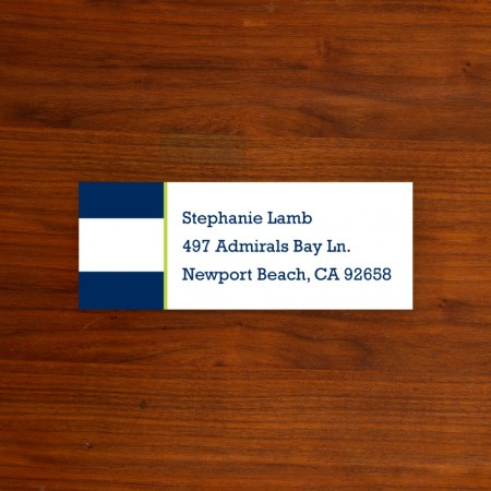 Awning Stripe Address Label