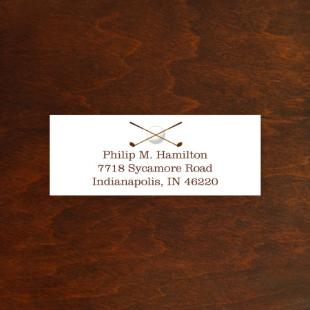 Golf Address Label