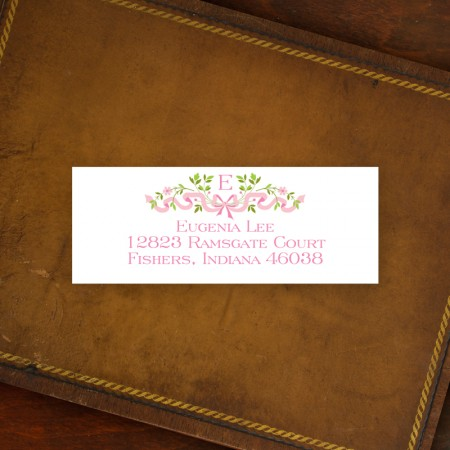 Ribbon Pink Address Label