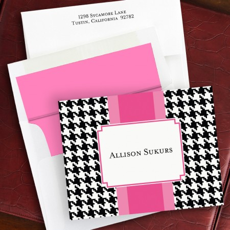 Alex Houndstooth Black Fold Notes
