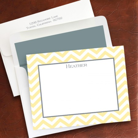 Chevron Small Correspondence Cards