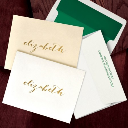 Foil Fold Notes featuring 100% Cotton Paper - with Name