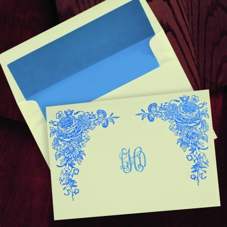 Letterpress Garden Notes with Monogram