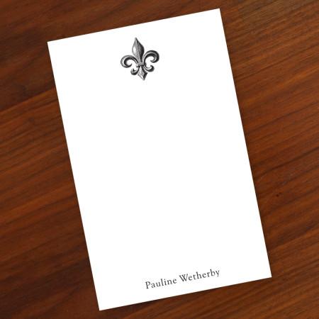 Prentiss Memo Set - Fleur De Lis Design Refill