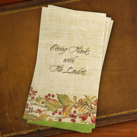 Caspari® Autumn Leaves Guest Towels
