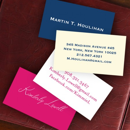 Colorful Calling Cards