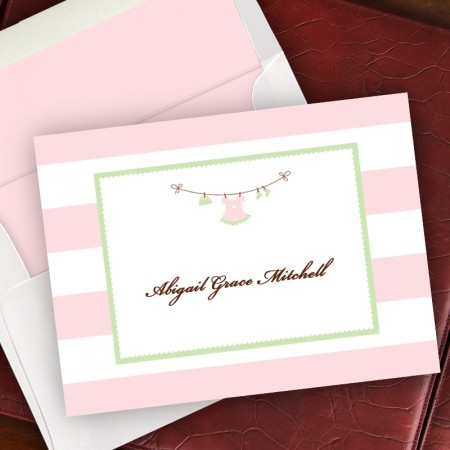 Delicate Clothesline Notes - Light Pink