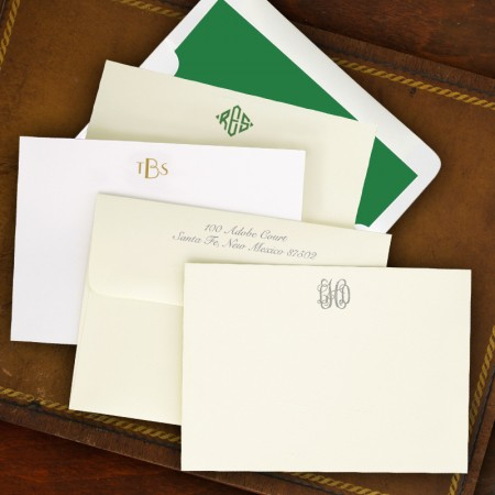 Designer Correspondence Cards - with Monogram