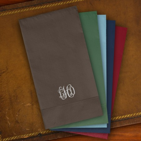 Designer Foil Guest Towels - with Monogram