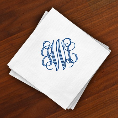 DYO Beverage Napkins - with Monogram