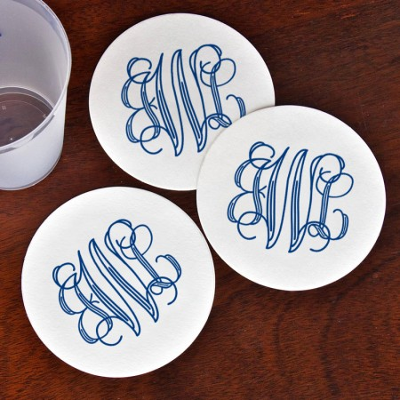 DYO Coasters - with Monogram