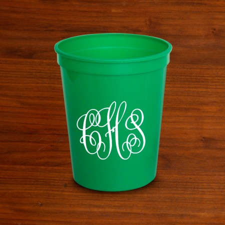 DYO Stadium Cups - with Monogram - Green