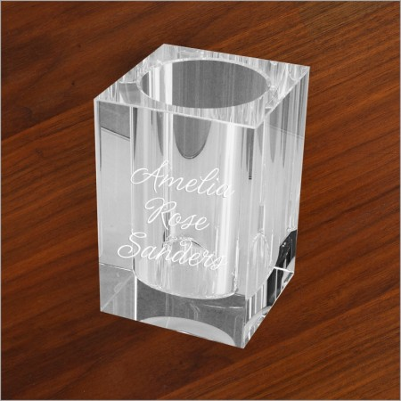 Glass Pen Holder