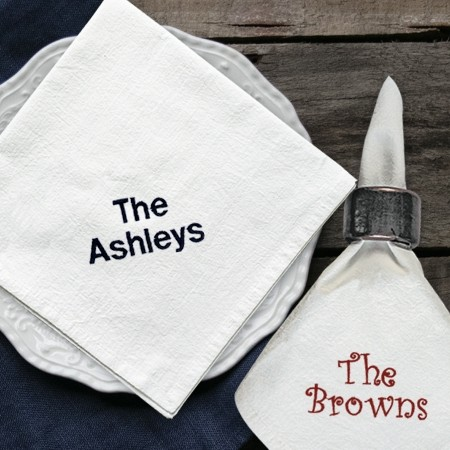 Embroidered Cotton Napkins