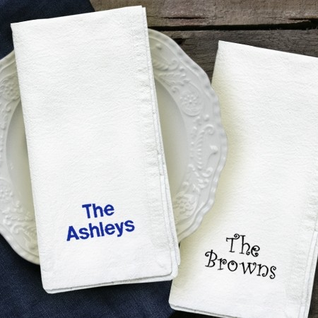 Embroidered Cotton Tea Towels