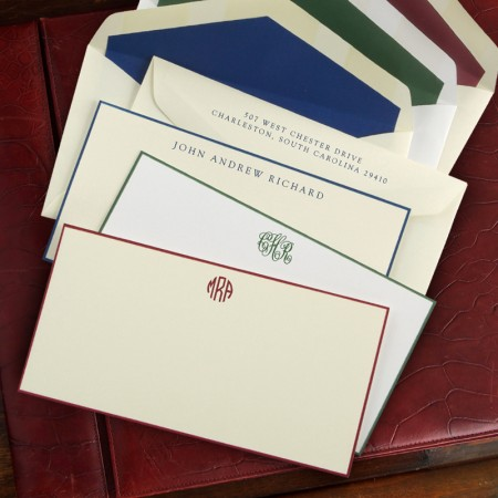 Hand Bordered Slim Correspondence Cards