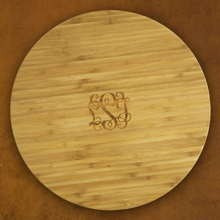 Large Lazy Susan - with Monogram