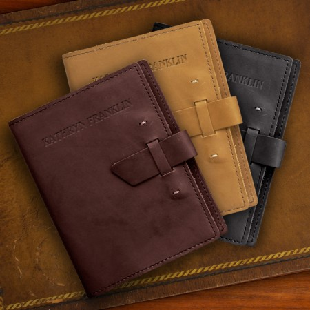Large Leather Buckled Journal
