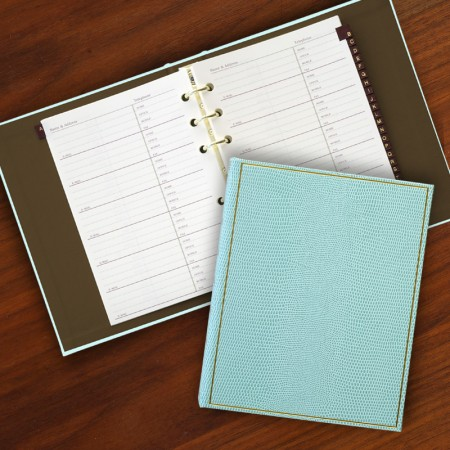 Lizard Robin's Egg Blue Loose Leaf Address Book