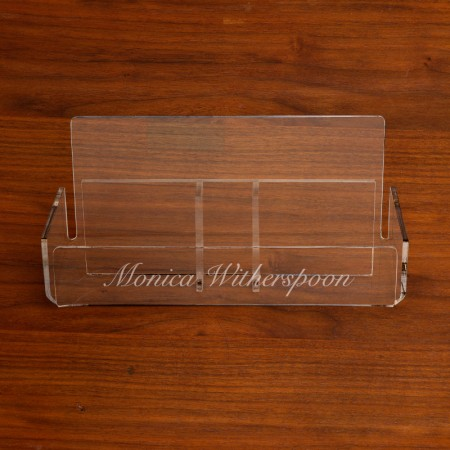 Etched Acrylic Holder