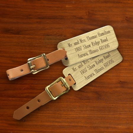 Engraved Luggage Tags