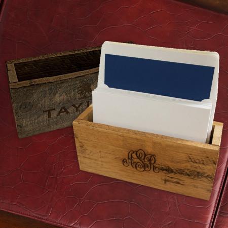 Rustic Card Holder - Monogram