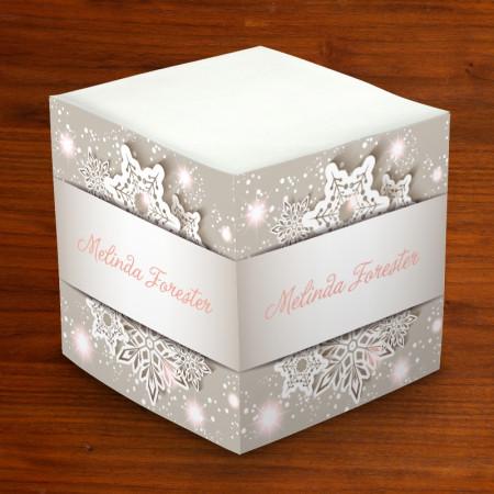 Merrimade Self Stick Memo Cubes - Snowflake