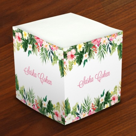Merrimade Self Stick Memo Cubes - Fresh Flowers