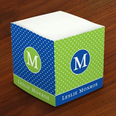 Merrimade Self Stick Memo Cubes - Glorious Dots