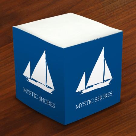 Designer Self-Stick Memo Cubes