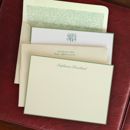 Sage Hand Bordered Cards