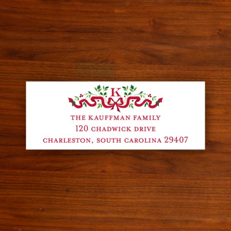 Ribbon Holiday Address Labels
