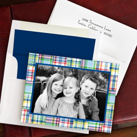 Madras Patch Blue Folded Photocard