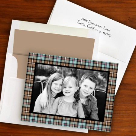 Kelso Plaid Mocha Folded Photocard