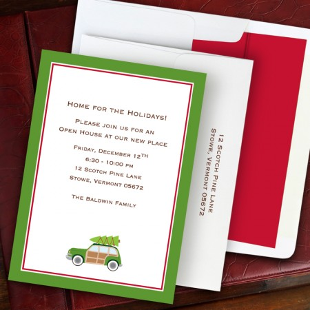 Woody Holiday Invitation