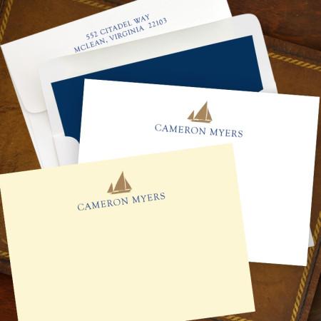 Designer Foil icon Correspondence Cards