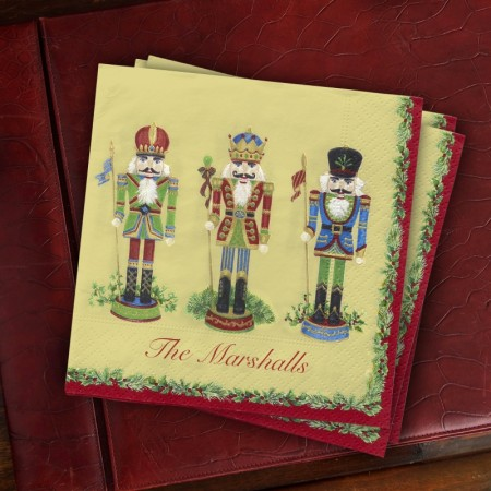Caspari® Nutcracker Cocktail Napkins
