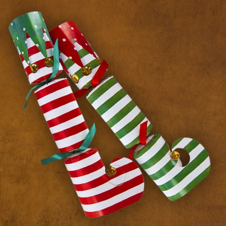 Caspari® Holiday Crackers - Stocking Stripe