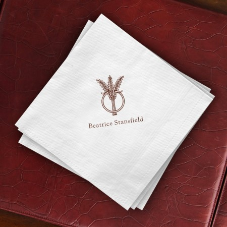 Prentiss Dinner Napkins - Wheat Ring Design