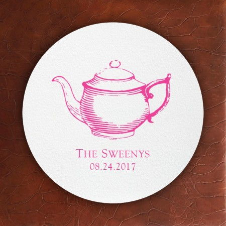 Prentiss Letterpress Coasters - Teapot