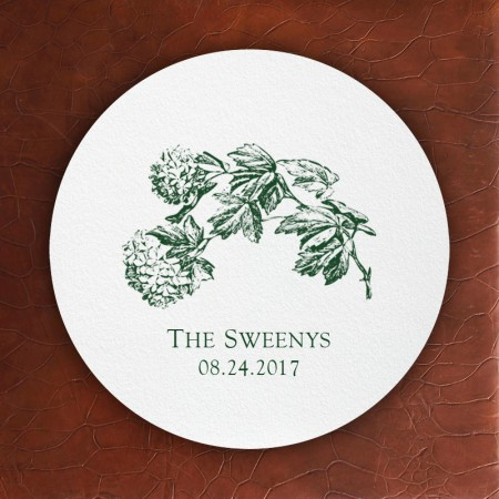 Prentiss Letterpress Coasters- Floral Design