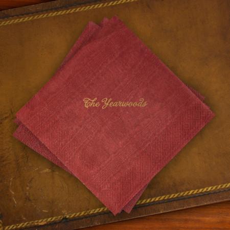 Caspari® Cranberry Moire Luncheon Napkins