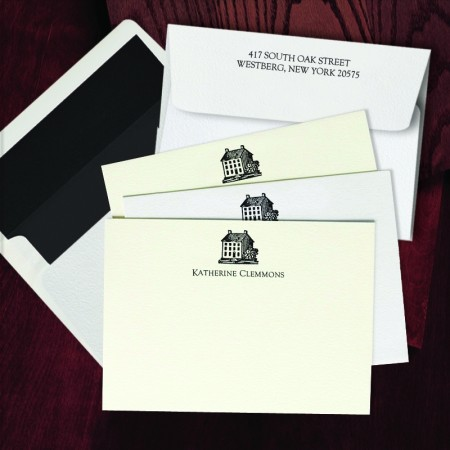 Prentiss Letterpress Correspondence Cards - House