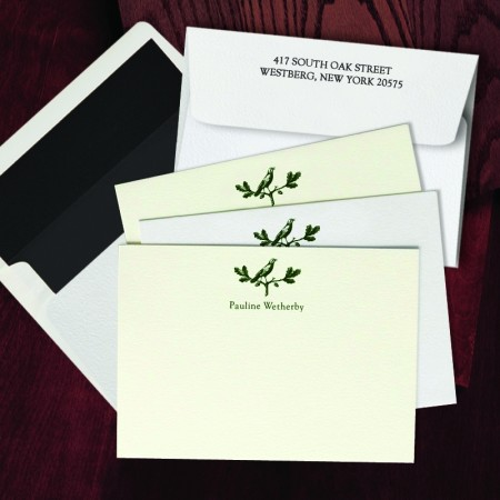 Prentiss Letterpress Correspondence Cards - Bird