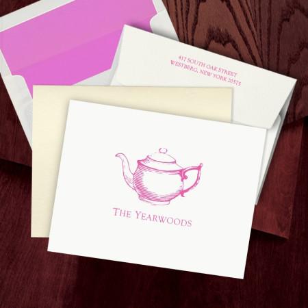 Prentiss Letterpress Fold Note -  Teapot