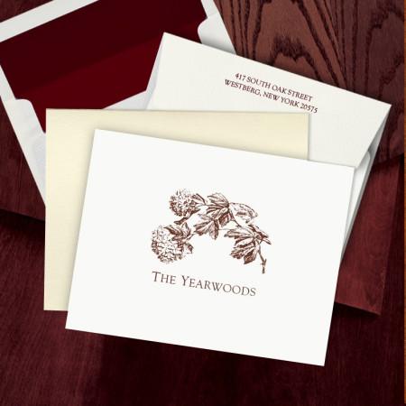 Prentiss Letterpress Fold Note -  Floral
