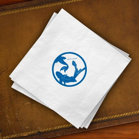 Prentiss Beverage Napkins - Koi Design